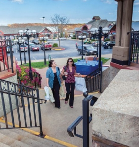 More than 75 percent of those who visit the Lake of the Ozarks shop at places like Osage Beach Premium Outlets, which is often credited as the genesis of the area's retail surge. Courtesy of the Lake of the Ozarks CVB.