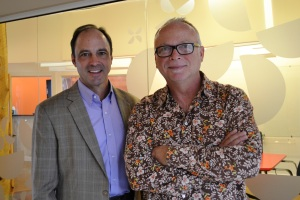 From left, President and CEO Terry Woodruff; and Steve Sweitzer, Chief Creative Officer.