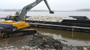 Construction at the public Mississippi River port in Lewis County.