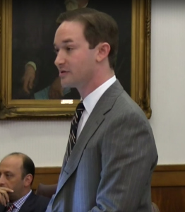 Jonathan Sternberg, attorney for injured worker Carl Greer. Click to watch highlights from the hearing.
