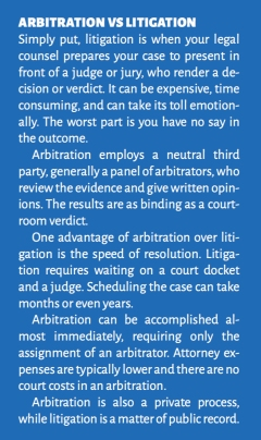 arbitration vs litigation