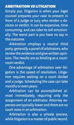 arbitration vs litigation