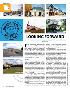 Read the Bonne Terre special advertising section.