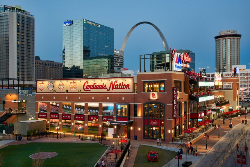 Ballpark Village, photo by Dan Donovan of the St. Louis Cardinals.