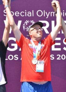 Bobby Williams at the 2015 Special Olympics World Games in Los Angeles.
