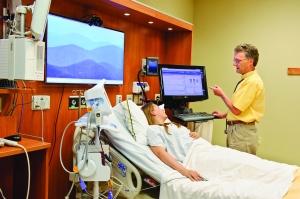 Patient in smart room
