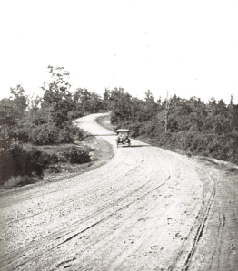"Cushing's description for this photo reads: ""Many a scene of panoramic beauty spreads before the traveler, as viewed from 'The Ridge Road' where state highway engineers have done their splendid work."""